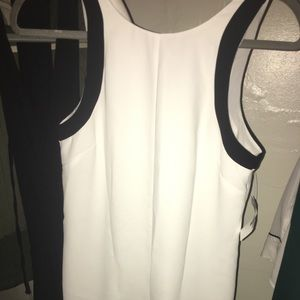 White and black Banana Republic dress